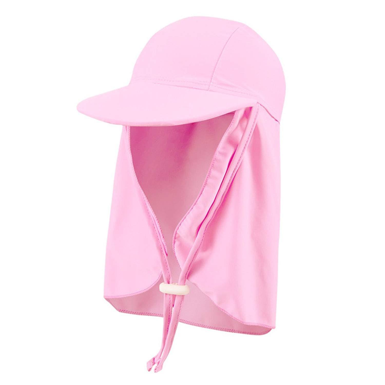 8ab3e8fa Get Quotations · Kids Sun Hat Flap Cap Boys Girls Visor Cap Sun Protection  Beach Hat Fishing Cap