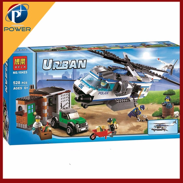 BELA City Police series Arctic City Polar Adventure Lift helicopter aircraft Bricks Blocks Toy