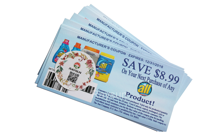 Custom Carta Coupon per Lo Sconto