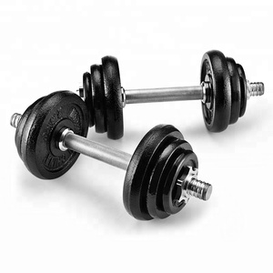 black or gray combination dumbbell set