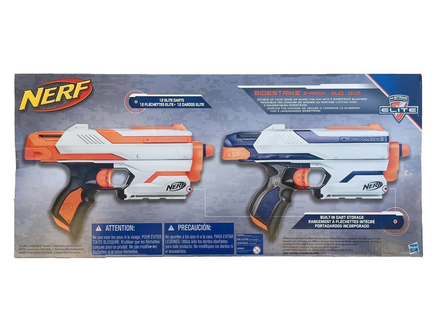 Get Quotations · Nerf N-Strike Elite Sidestrike Blaster 2-Pack Nerf Guns  with 12 Nerf Darts
