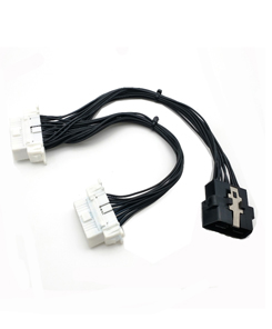 16 Pin OBD 2 OBDII OBD2 Y Splitter Cable Male to Female Extension Cable