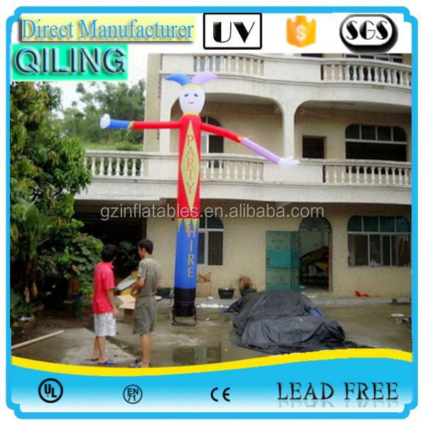 Factory Direct decoration giant air waving man characters for promotion