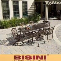 Garden metal dining Set , Cast iron/Cast aluminum furniture (BF10-M503)