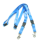 Soft Id Neck Lanyard,Keychain Holder Custom Polyester Lanyards With Trigger Hook Attachment