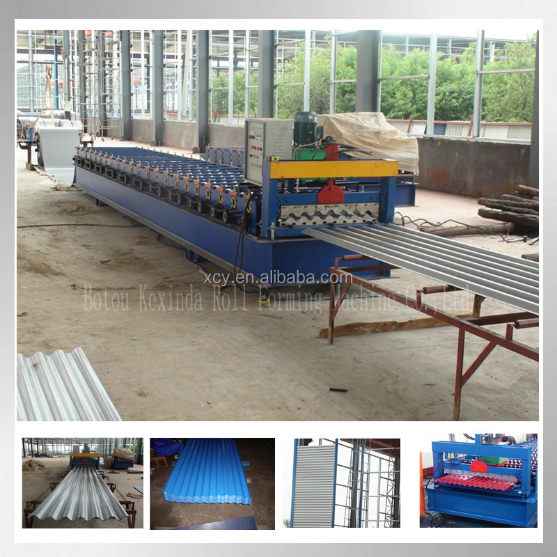 10% discount Corrugated round wave roof sheet roll forming machine