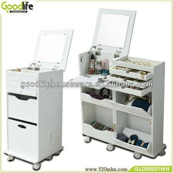 Wooden Movable Makeup Cabinet Beauty Salon Equipment