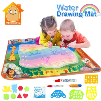 100x70cm Reusable Magic Water Drawing Painting Doodle Writing Mat For Kids