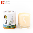 Customized style recycled cylinder cardboard paper candle tube round box packaging made in China