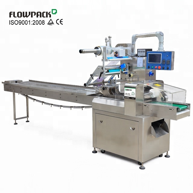 Factory Price Horizontal Nitrogen Cake Flow Pack Machine For Bread