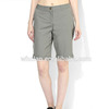 Ladies Woven Half Shorts Solid Grey Blank Women Fancy Shorts