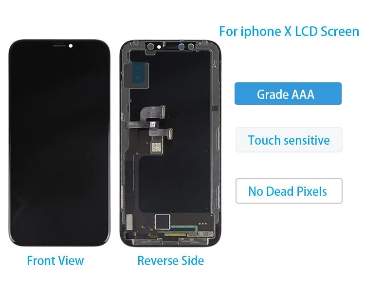 China shenzhen factory price display for iphone x touch screen, for screen replacement iphone x lcd