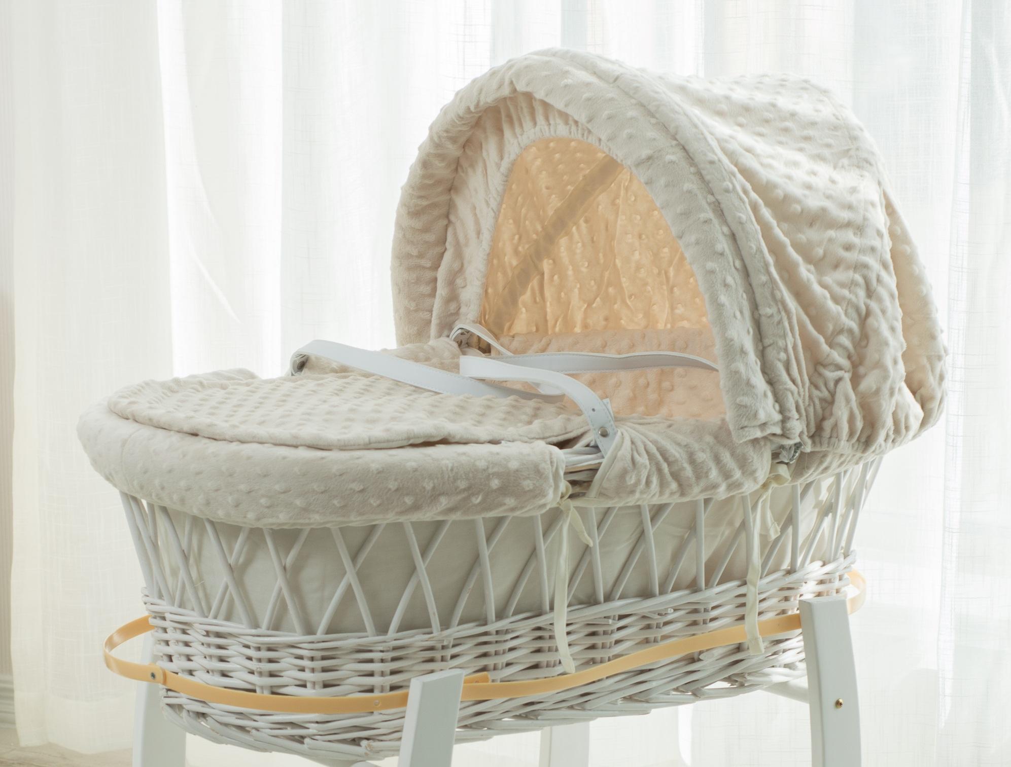 Baby Grübchen Fleece Moses Korb Dressings 3pcs Baby Bettwäsche Sets
