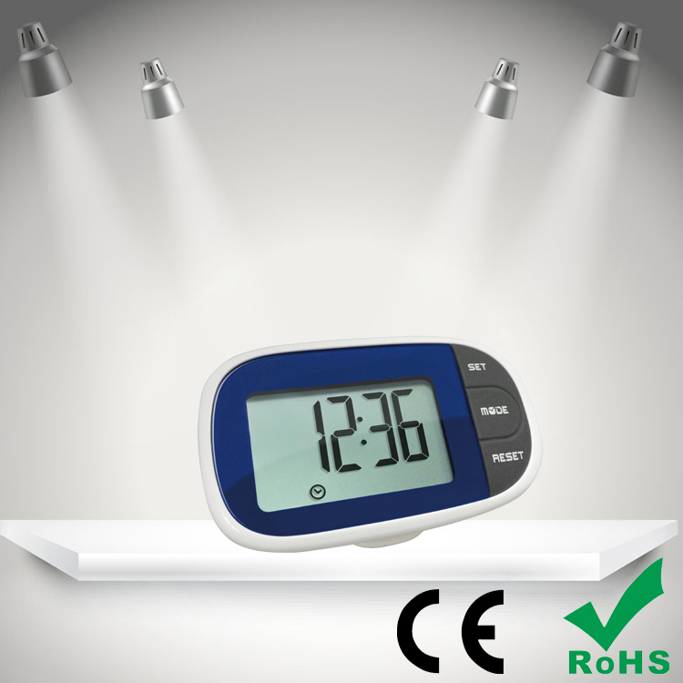 multifunction counter pedometer with time display,large LCD display 3D odometer