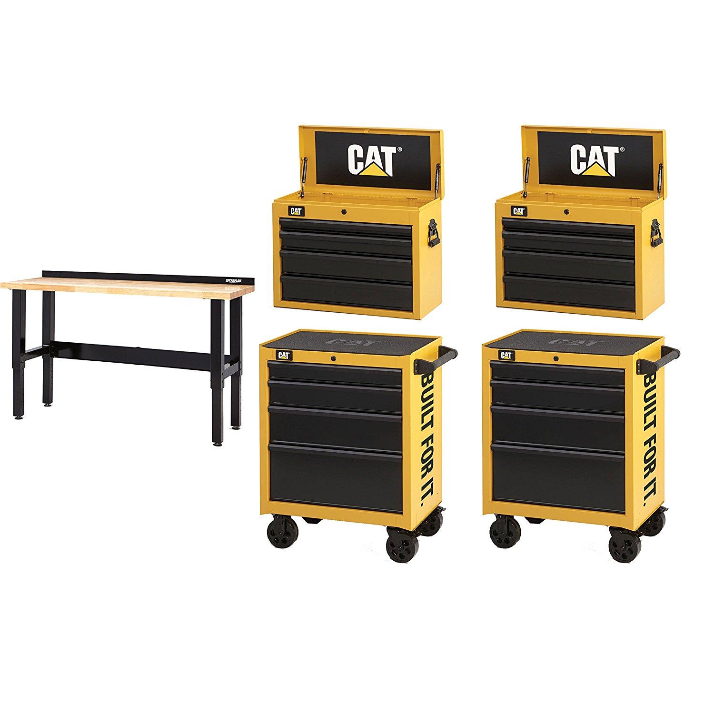 "Waterloo CAT2-IND2604CA Caterpillar (2) 26"" Cabinet, (2) Tool Chest, Workbench"