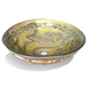 Fancy bathroom hot melt glass basin with chinese dragon pattern
