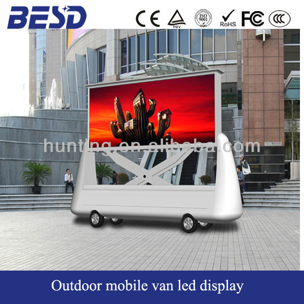 alibaba express outdoor digital mobile van advertising led billboard P12