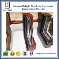 Double glazed aluminum cladding wood entry door and windows