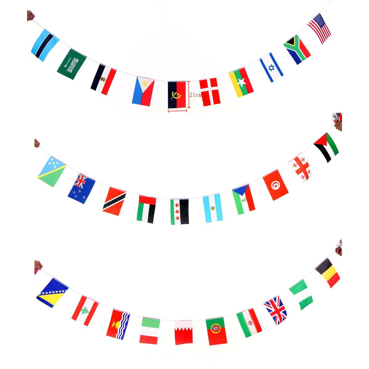 Flyesto 41 Feet World Flag International String Flag Banners 50 Country Hanging Flags Pennants For 2016 Olympic Games Sports Celebration Party Events Bar Decorations