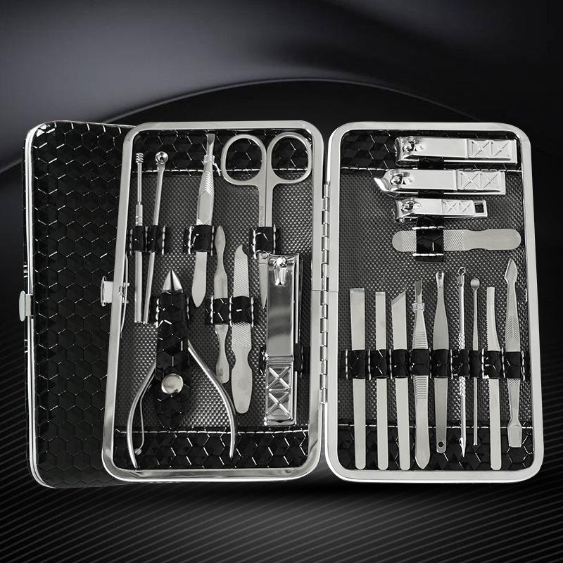 XJ02 21pcs nail clipper set nail art cutters cuticle scissor flies nippers travel nail manicure set