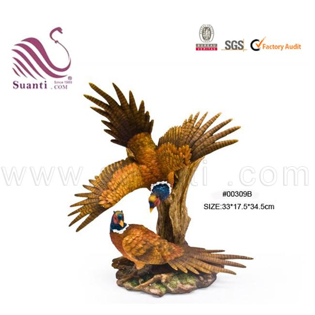 Shenzhen Business Gift Resin American Bald Eagle Bird Statues for Office Decoration
