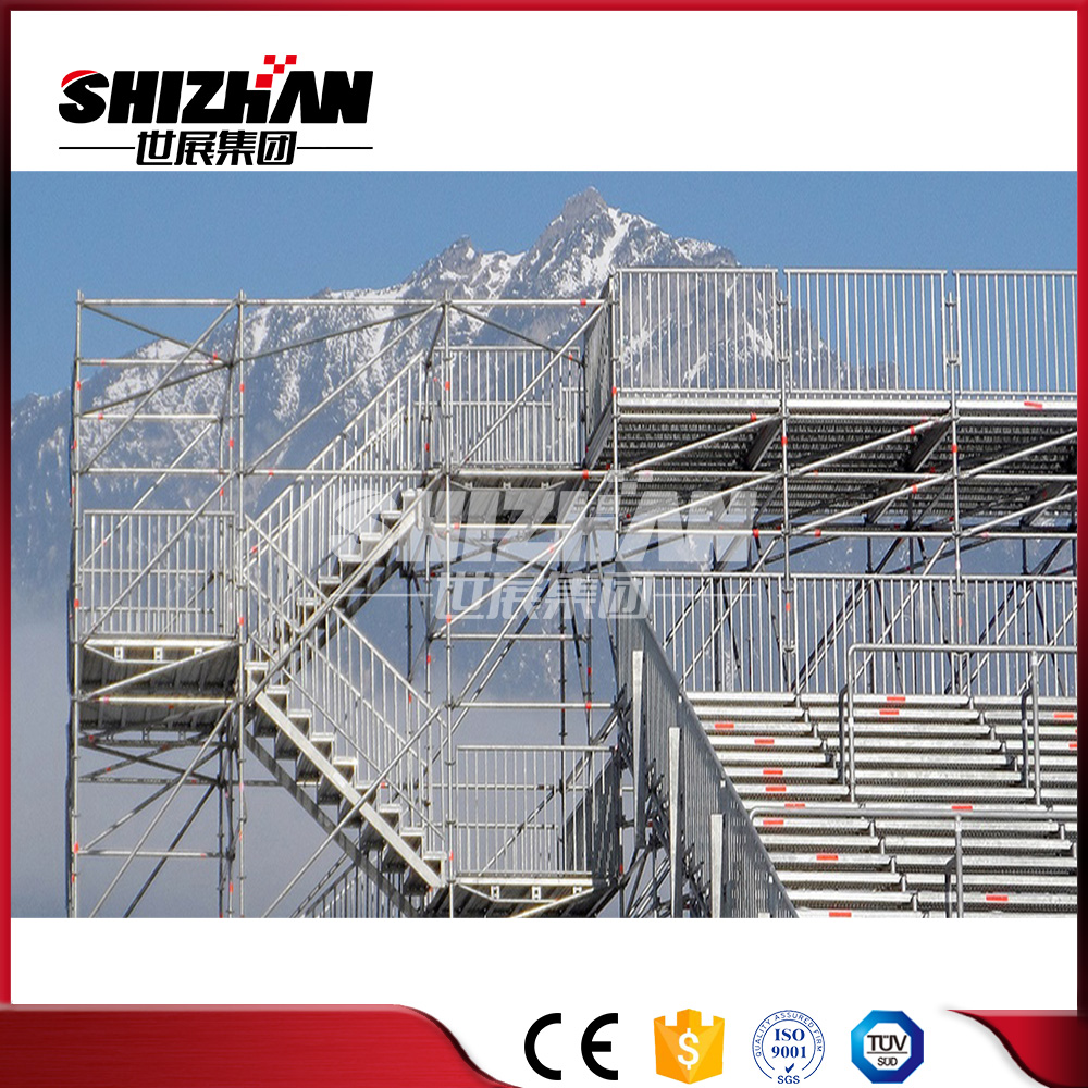 With TUV SGS certificate safeway easy install removable layher ringlock scaffolding