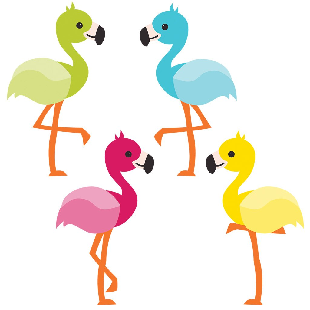 Carson Dellosa School Pop Flamingos Mini Cut-Outs (120211)