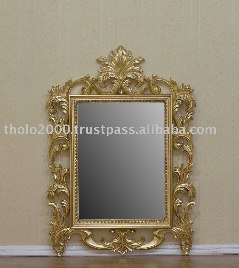 French Furniture - Gold Gilt Scroll Mirror