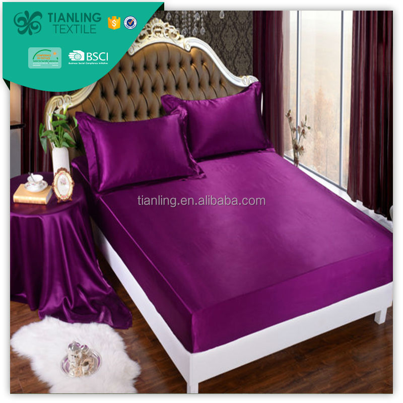 Royal Purple Mulberry Silk Single Bed Fitted Sheets
