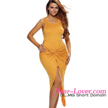 6029408c4623 In Stock Items Wholesale Strapless Latest Yellow Colour Party Dress ...