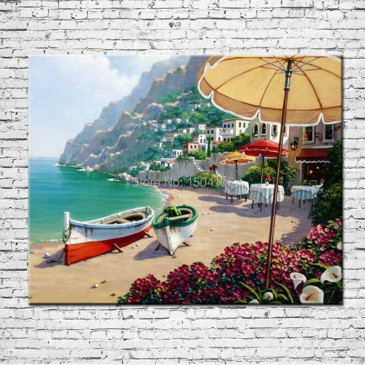 Beach scenery 100% hand painted canvas wall art painting ,picture ,home decorations