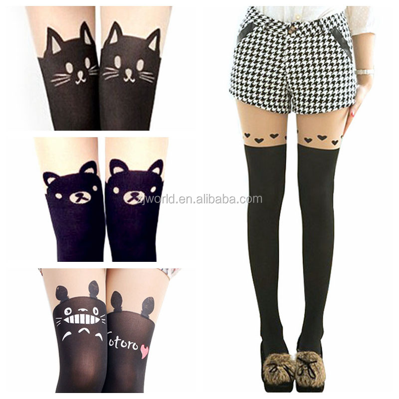 1x Pair Cartoon Pantyhose Assorted Design Cosplay Unique C0N Sexy Japanese Stocking