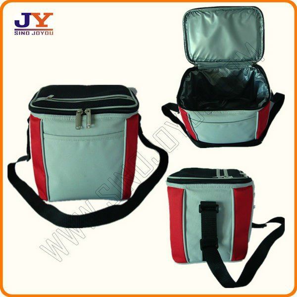 POLYESTER INSULATED BAG TO KEEP FOOD COLD COKE COOLER BAG FISH AIRLINE LUNCH BOX
