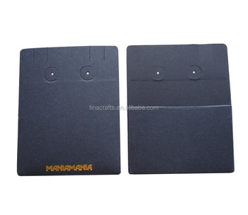Black Paper Earring Card With Pouch