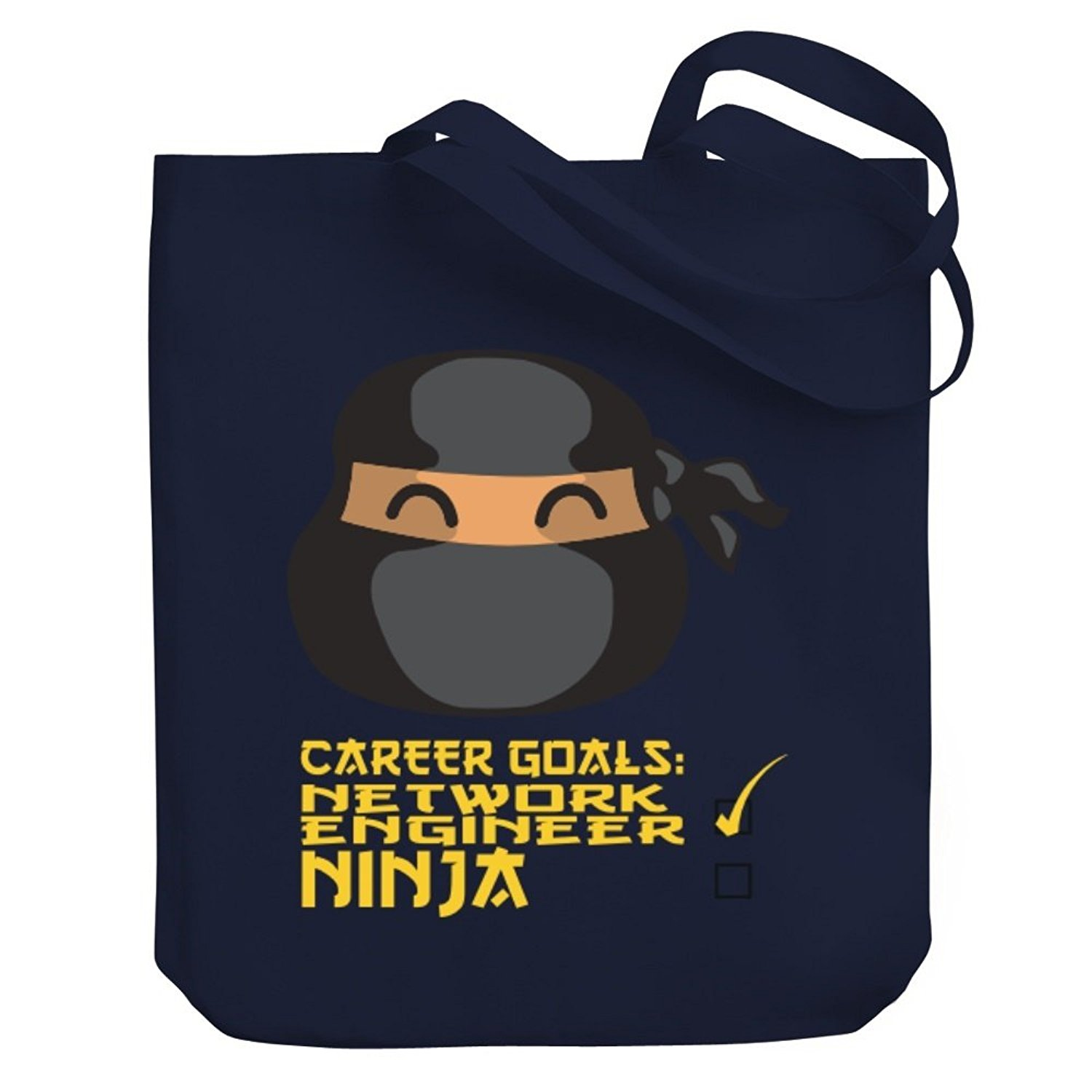 be6ca1f4 Get Quotations · Teeburon Career Goals Network Engineer Ninja Canvas Tote  Bag