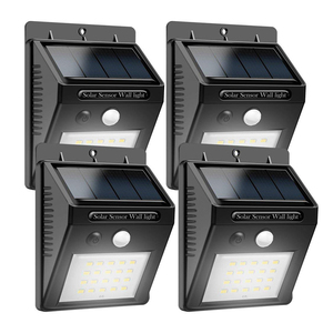 Outdoor wireless solar powered motion sensor 40pcs led/COB security wall flood light