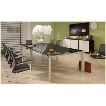 Impressive Rectangular Conference Table With Glass Top