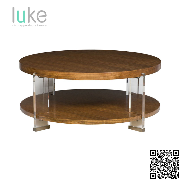 Solid acrylic coffee table legs