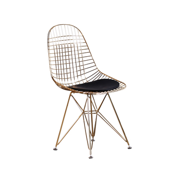 Swell Mid Century Modern Design Chrome Gold Copper Metal Dkr Wire Dining Chair Buy Cheap Dinning Chair Wire Chair Bertoia Side Chair Product On Creativecarmelina Interior Chair Design Creativecarmelinacom