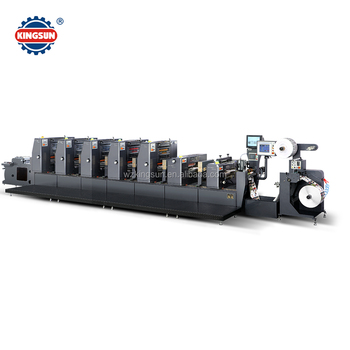 KZX-320 Intermittent Roll to Roll Self adhesive label Offset printing machine