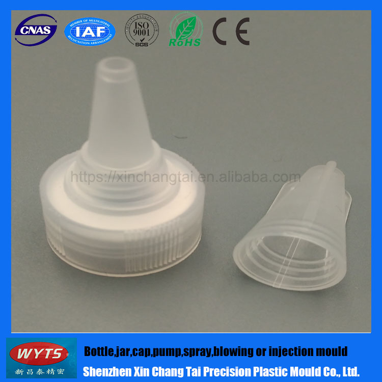 Alibaba China Supplier Factory Supplied Directly Plastic Clear Cap Pour Spout Cap