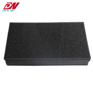 Black high density rubber high temperature resistant sponge foam board and roll