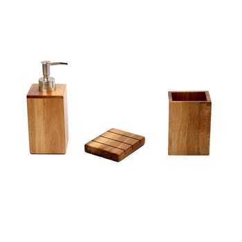 Legno Di Bambù Accessori Bagno,Bagno Mano Schiuma Dispenser Di ...