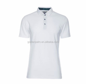 Wholesale Men's Sports Blank Plain White Polo T Shirt Golf Shirt