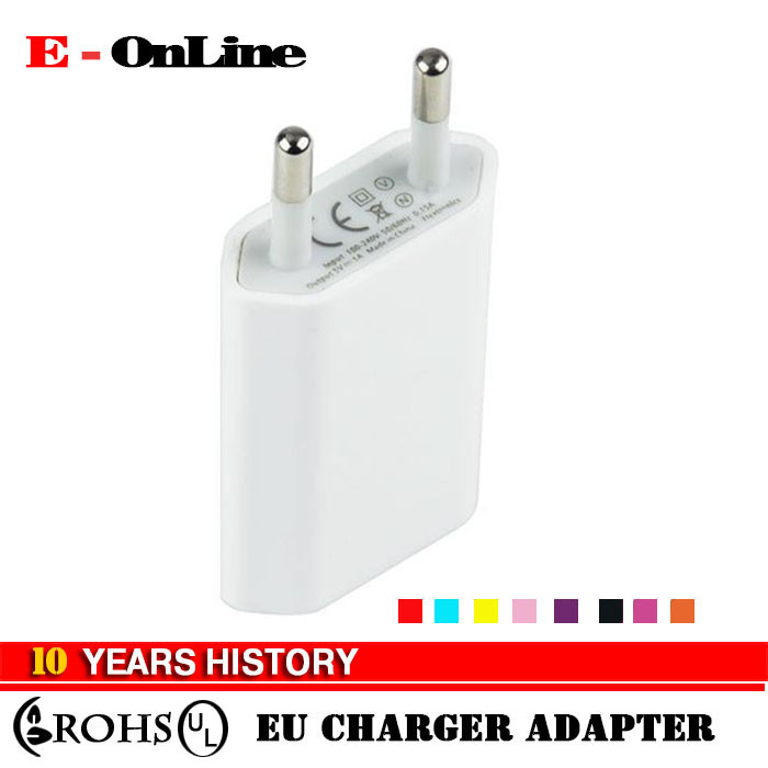 5V 1A Colorful EU plug USB AC power wall charger <strong>adapter</strong> for iPhone 5 4 4S Samsung Galaxy S2 S3 S4 HTC Phones Charger <strong>Adapter</strong>