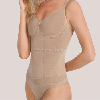 efb062ccbc5f3 Body Briefer Firm Control Seamless Shapewear Full Body Shaper Thong Bodysuit