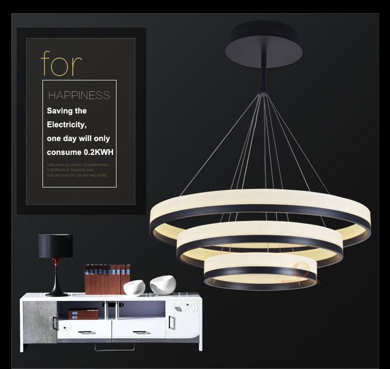 Acrylic Modern Big Round Led Pendant Lighting Fixtures,Large ...