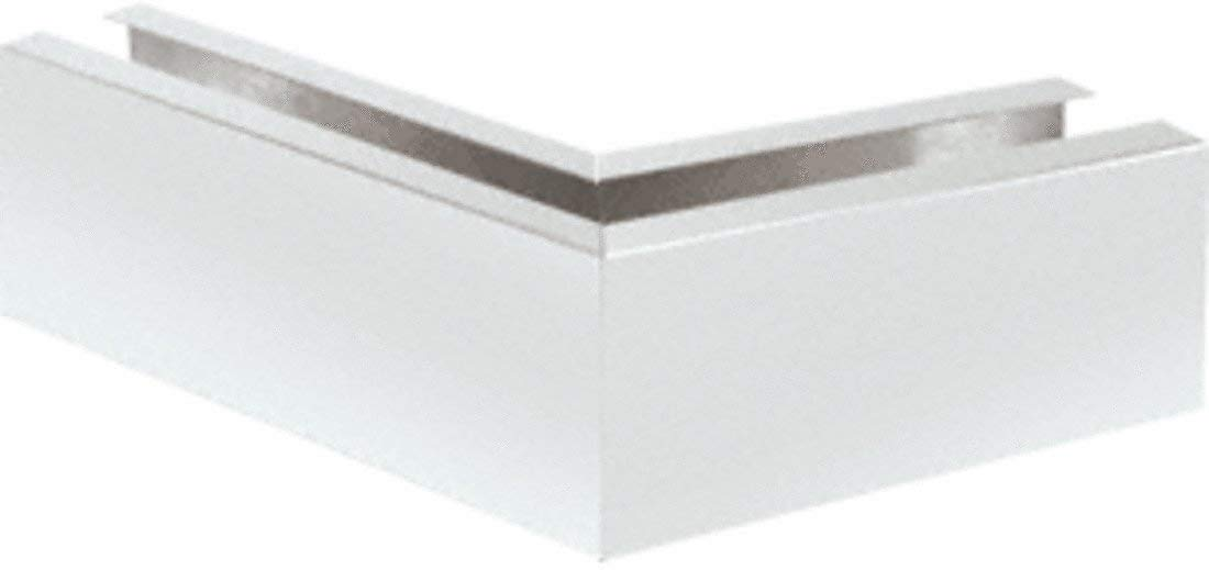 "C.R. LAURENCE B5S135SA CRL Satin Anodized 12"" Mitered 135 Degree Corner Cladding for B5S Series Standard Square Base Shoe"