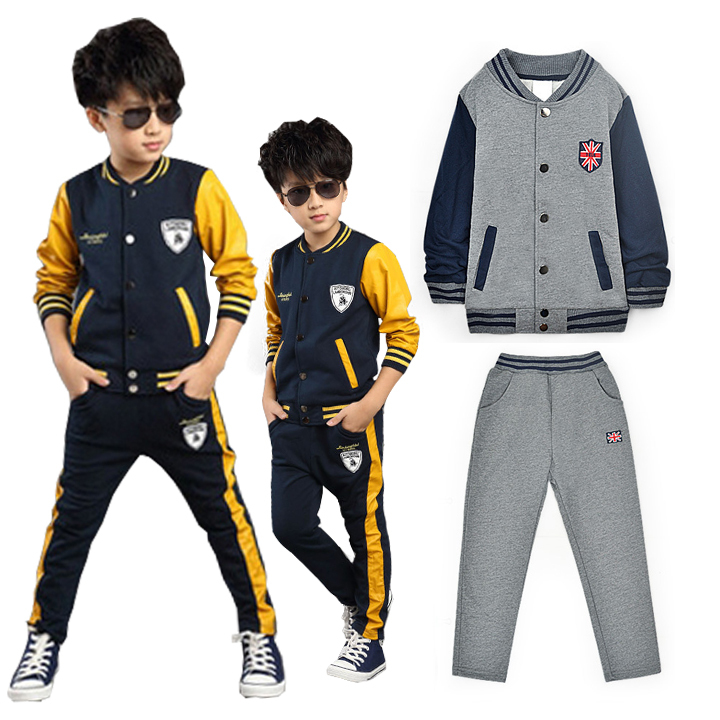 Get Quotations · Spring Autumn Baby Boys Sport suit 2 piece Clothing set  for Boy Tracksuit 120-160cm b43ee198f