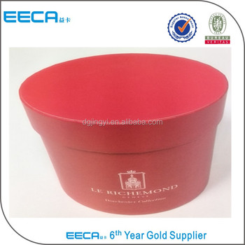 Custom Red Round Hat Boxes With Lidscardboard Hat Box Buy